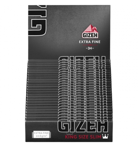 GIZEH Black King Size Slim