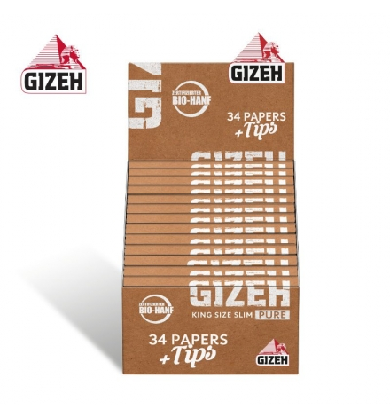 GIZEH Pure King Size Slim + Tips