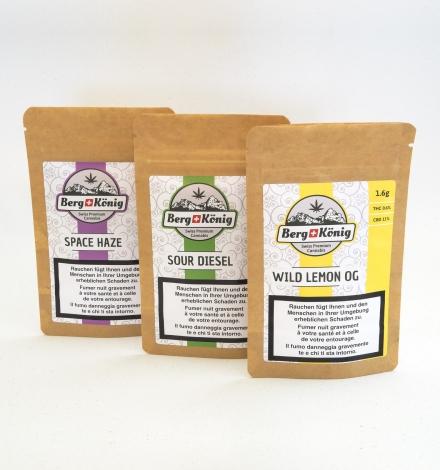 CBD Blüten, Sweetr-Sour & Haze Bundle - CBD kaufen, Berg König